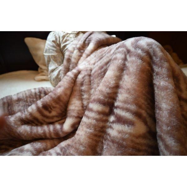 毛布 日本製 ウール毛布(毛羽部分) オーストラリアメリノ とろける肌触り ウォッシャブル|japan-blanket|08