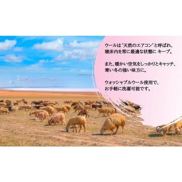 毛布 日本製 ウール毛布(毛羽部分) オーストラリアメリノ とろける肌触り ウォッシャブル|japan-blanket|05