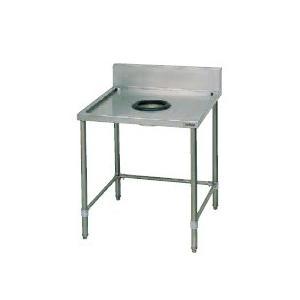 マルゼン ダストテーブル SUS304 BDWX-126(バックガードあり) 幅1200×奥行600×高さ800(mm) 【個人配送不可】
