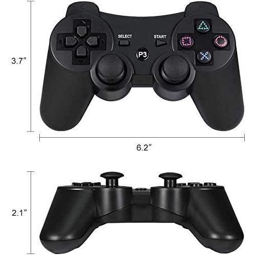 PS3 コントローラー ワイヤレス 無線 ゲームパッド 振動機能 人間工学 USB ケーブル  6軸リモートゲームパッド 充電式 USB japancomplete 02