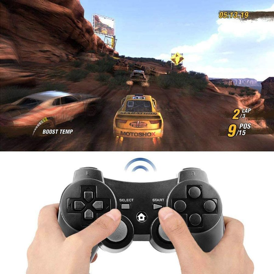 PS3 コントローラー ワイヤレス 無線 ゲームパッド 振動機能 人間工学 USB ケーブル  6軸リモートゲームパッド 充電式 USB japancomplete 05