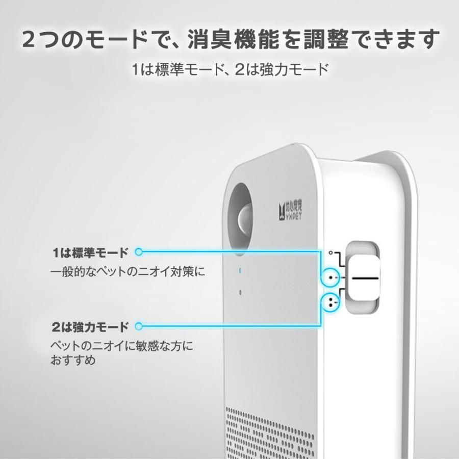 ペット トイレ消臭器 ホワイト 置き型 脱臭 除菌 消臭 消臭剤 清浄機 無香 自動 センサー 電池式 ペットトイレ 消臭器 活性酸素 マイナスイオン UP-035 japandoll 05