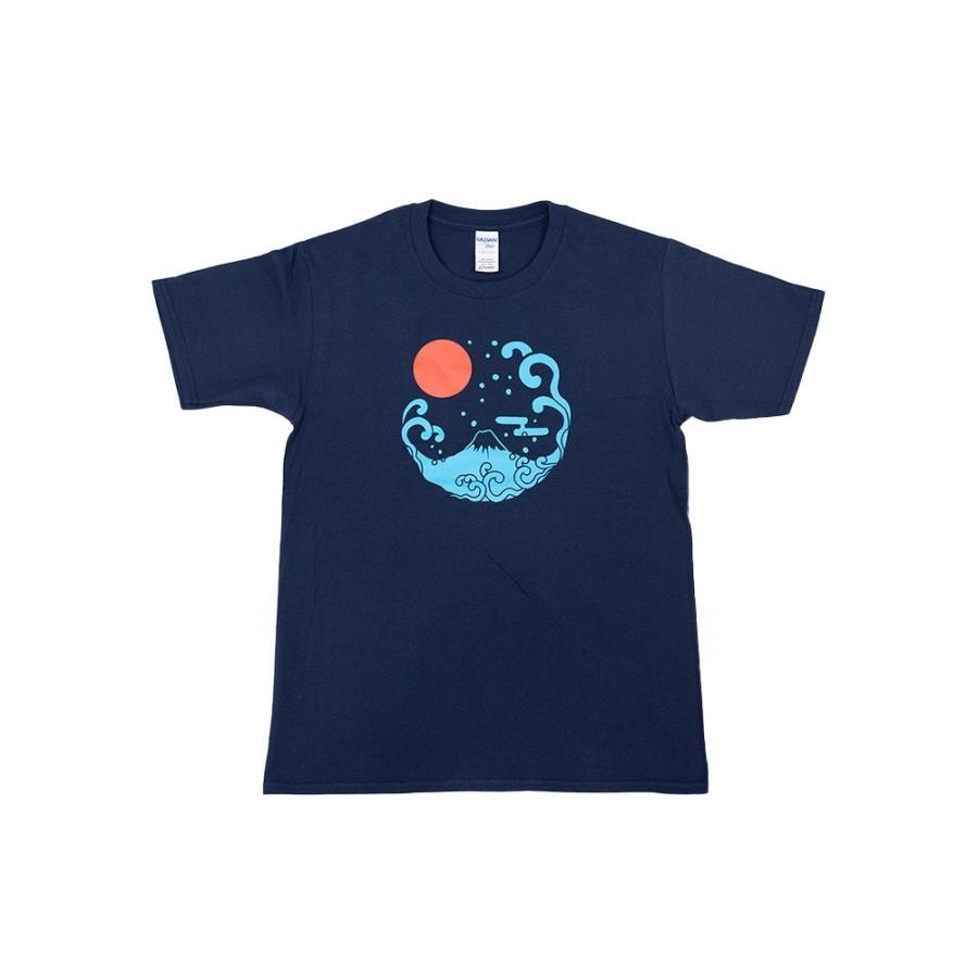 アウトレット・和柄Tシャツ-富士山-紺色/Mサイズ/半袖/メンズ/レディース/ユニセックス|japanesestandard|03