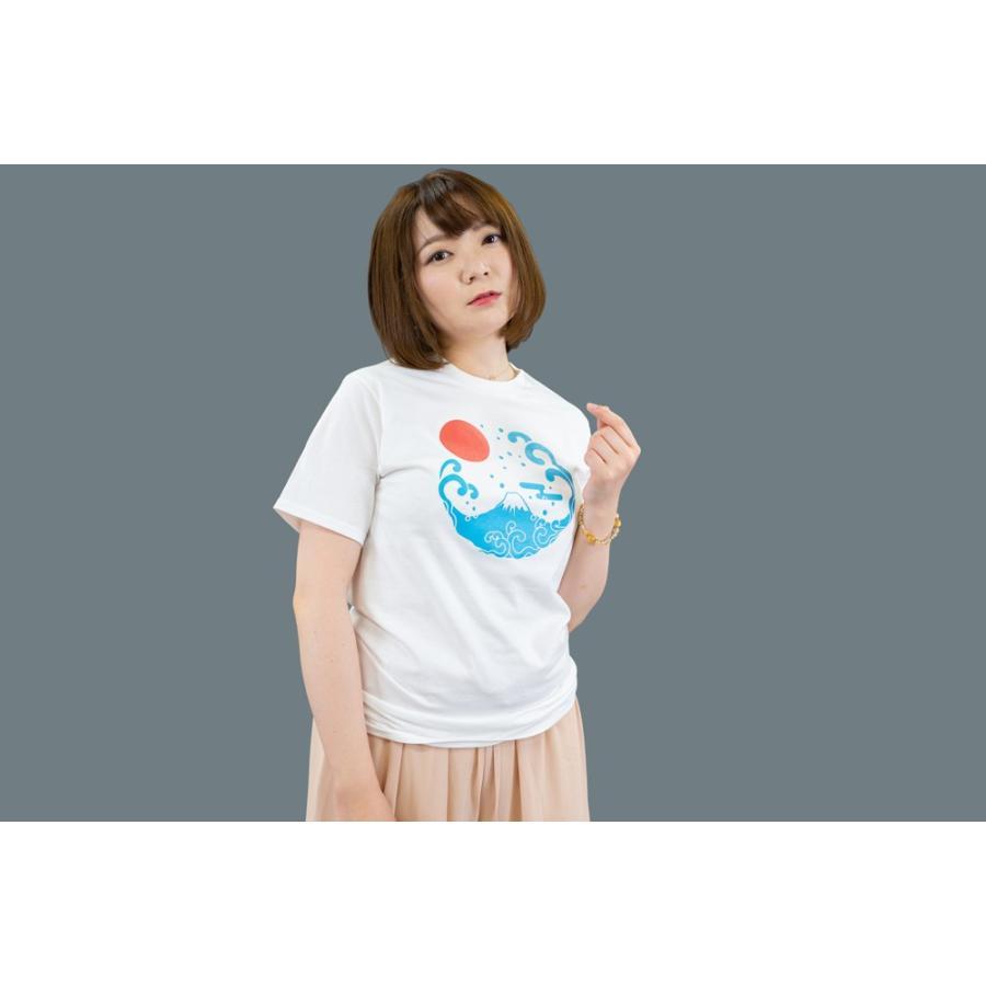 アウトレット・和柄Tシャツ-富士山-白色/XSサイズ/半袖/メンズ/レディース/ユニセックス japanesestandard 02