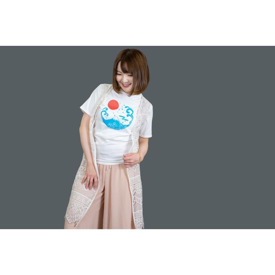 アウトレット・和柄Tシャツ-富士山-白色/XSサイズ/半袖/メンズ/レディース/ユニセックス japanesestandard 03