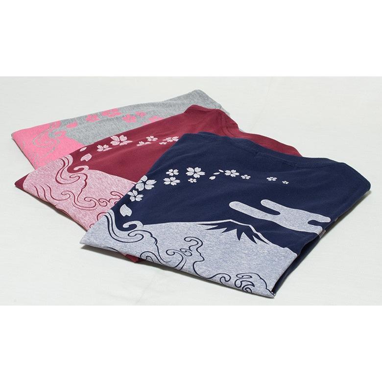 アウトレット・和柄Tシャツ(富士山・桜)/紺/サイズM/5部丈メンズ/レディース/ユニセックス(男女兼用)|japanesestandard|05