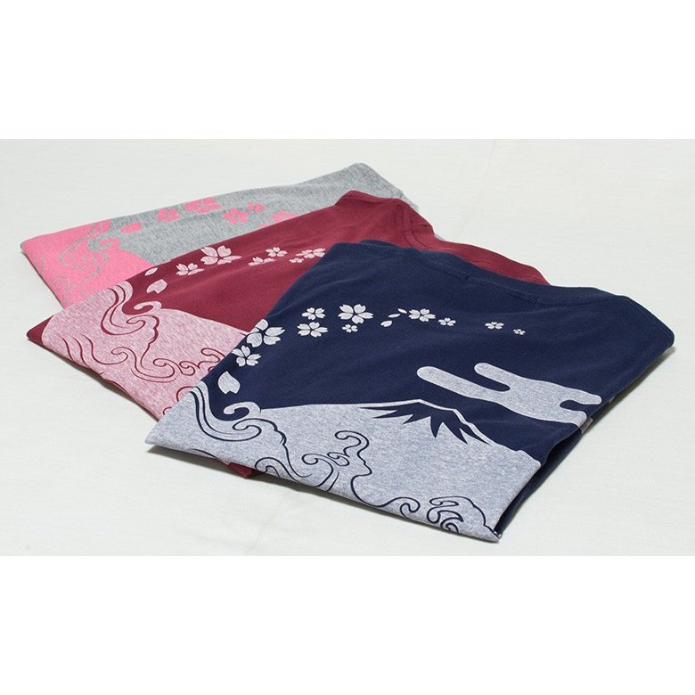 アウトレット・和柄Tシャツ(富士山・桜)/紺/サイズS/5部丈メンズ/レディース/ユニセックス(男女兼用) japanesestandard 05