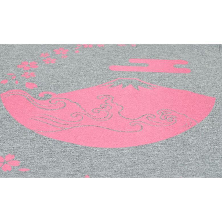 アウトレット・和柄Tシャツ(富士山・桜)/薄墨/サイズM/5部丈メンズ/レディース/ユニセックス(男女兼用)|japanesestandard|03