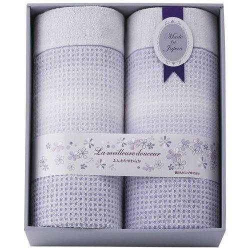 内祝い 内祝 お返し タオルケット シングル 2P 西川リビング 日本製 ワッフル織り 泉州タオル ギフト 2241-00040 (6)