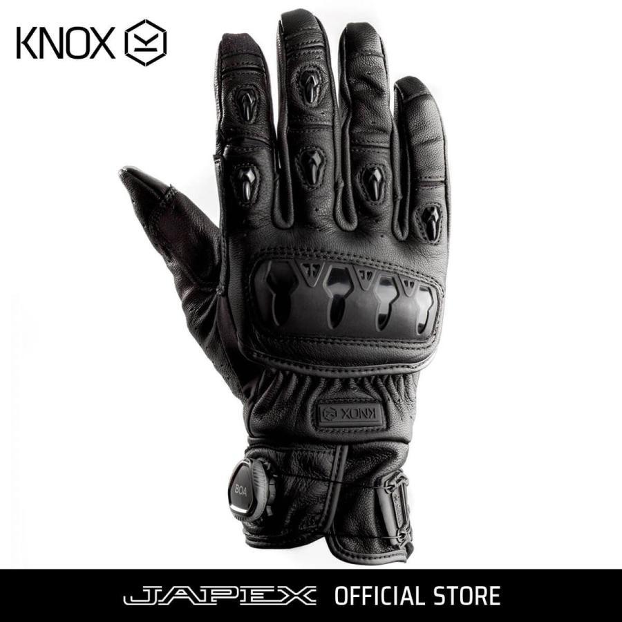 ノックス KNOX バイク用プロテクション グローブ 本革 オルサレザー / ORSA Leather ブラック japex