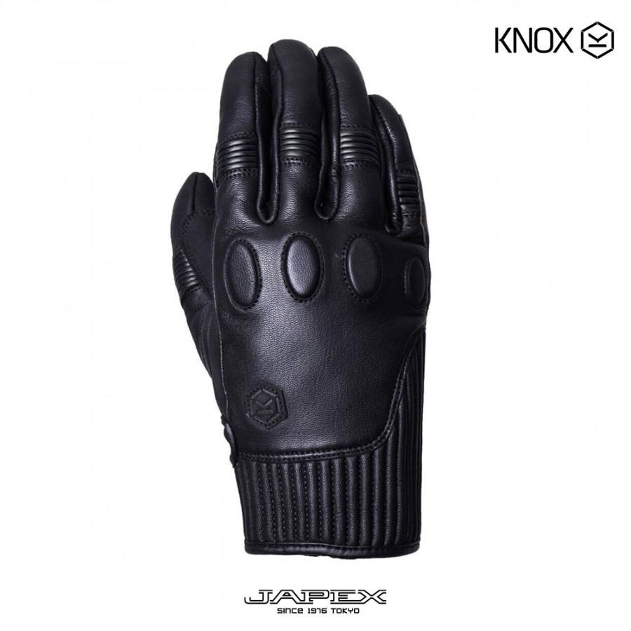 ノックス KNOX バイク用プロテクション グローブ 本革 ハンブリー /  HANBURY ブラック|japex