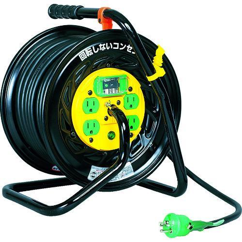 日動 電工ドラム マジックリール 100V アース漏電しゃ断器付 30m Z-EB34