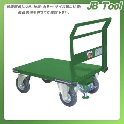 (直送品)TRUSCO 鋼鉄製運搬車 プレス製空気入タイヤ・ストッパー付900X600 SH-2N-ARS