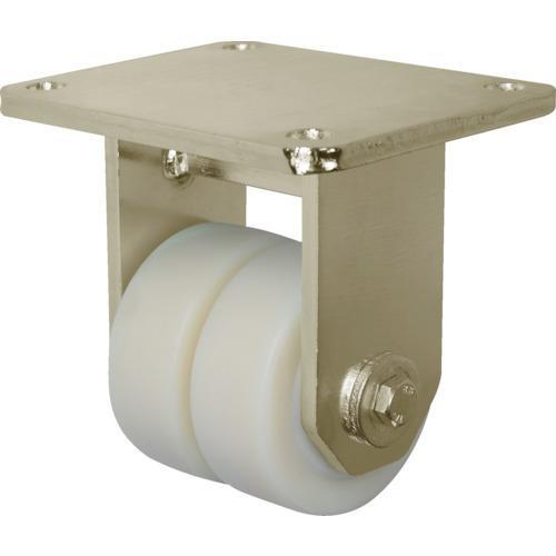 運賃見積り 直送品 シシク 低床重荷重用双輪キャスター 固定 100径 BSD-GSPO-100K