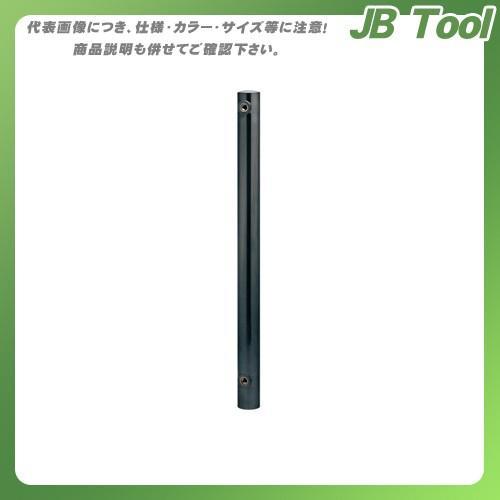 カクダイ ステンレス水栓柱(丸型) 黒ニッケルメッキ 624-042