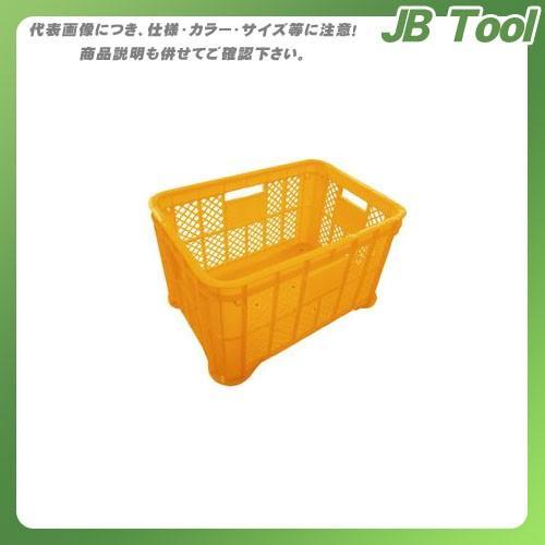 (直送品)安全興業 採集コンテナ オレンジ 平底 520×365×305mm (6入) jb-tool