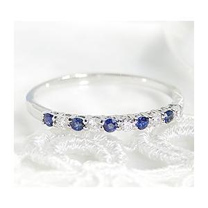 最も優遇 pt900 プラチナ ダイヤモンド ダイヤ 指輪 リング カラーストーン サファイア エタニティ 9月 誕生石 CAR-0025, 真壁郡 3c8a88ea