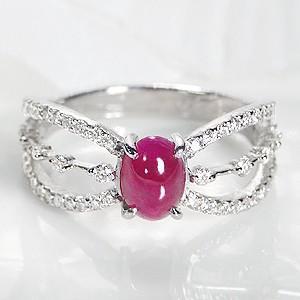 輝い pt900 プラチナ ダイヤモンド ダイヤ 指輪 リング ルビー カラーストーン 7月 カボション 大粒 人気 CAR-0209, men'sホーマン cb2df6b0