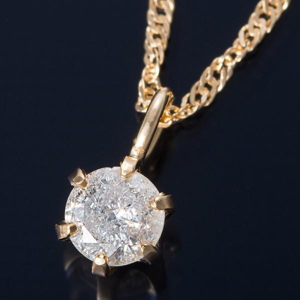 【国内配送】 K18 0.1ctダイヤモンドペンダント/ネックレス スクリューチェーン, シロイシチョウ 13881187