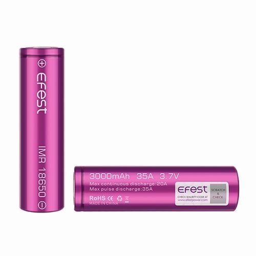 18650 3000mah 35A  2本セット リチウムマンガンバッテリー フラットトップ Efest 電子タバコ PSE認証|jct-vape|02
