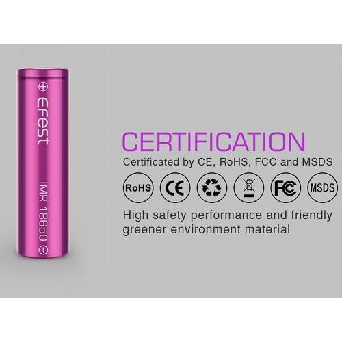18650 3000mah 35A  2本セット リチウムマンガンバッテリー フラットトップ Efest 電子タバコ PSE認証|jct-vape|03