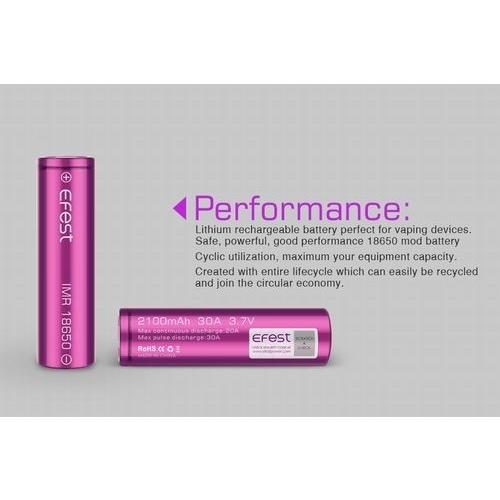 18650 3000mah 35A  2本セット リチウムマンガンバッテリー フラットトップ Efest 電子タバコ PSE認証|jct-vape|05