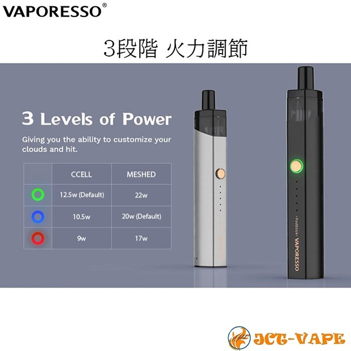 VAPORESSO Podstick スターターキット ベポレッソ バポレッソ 電子タバコ VAPE jct-vape 07