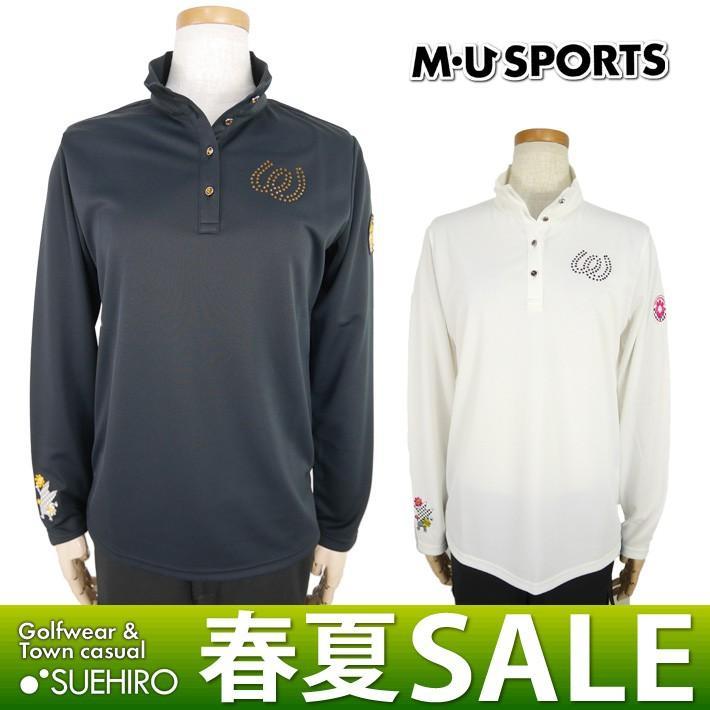 MUスポーツ ゴルフウェア 長袖ハイネックシャツ (M/L/LL寸:レディース) 春夏 50%OFF/SALE