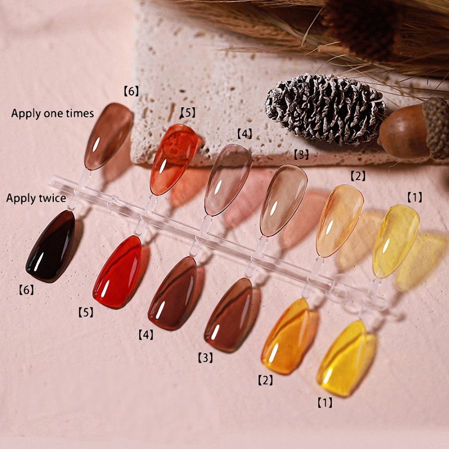 [LALONA] Newアンバージェル ( 5ml ) ( 6色 ) べっ甲琥珀カラー|jellybeans|04