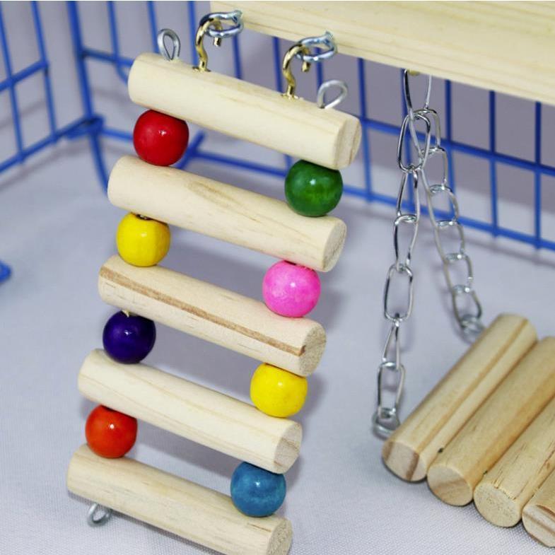 インコ 止まり木 とまり木 はしご おもちゃ 吊り下げ 鳥 ブランコ 木製 小鳥 ボール|jellykeystyle|02