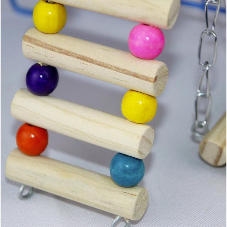 インコ 止まり木 とまり木 はしご おもちゃ 吊り下げ 鳥 ブランコ 木製 小鳥 ボール|jellykeystyle|05