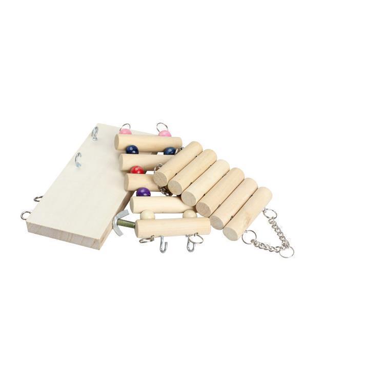インコ 止まり木 とまり木 はしご おもちゃ 吊り下げ 鳥 ブランコ 木製 小鳥 ボール|jellykeystyle|08