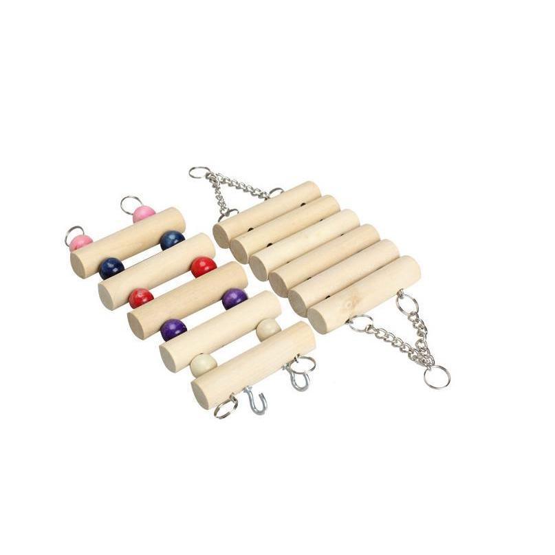 インコ 止まり木 とまり木 はしご おもちゃ 吊り下げ 鳥 ブランコ 木製 小鳥 ボール|jellykeystyle|09