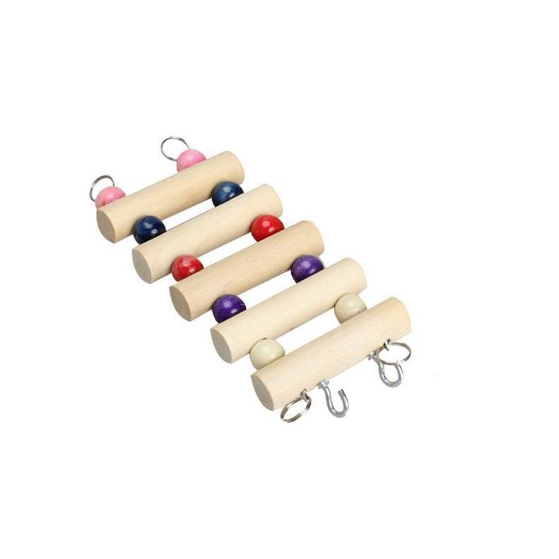 インコ 止まり木 とまり木 はしご おもちゃ 吊り下げ 鳥 ブランコ 木製 小鳥 ボール|jellykeystyle|10