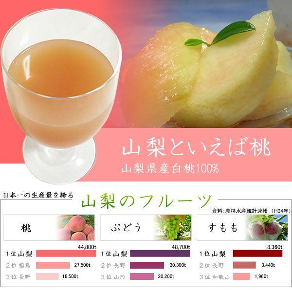 フルーツジュース 白桃 みかん オレンジ リンゴ アップルジュース 1L×6本 (包装・のし不可) 詰合せ jerichojericho 03