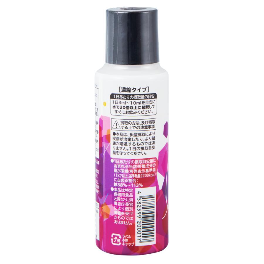 ベースミネラル+Fe 濃縮タイプ 100ml 栄養機能食品 鉄 鉄分 サプリ jes-mineral-honpo 02