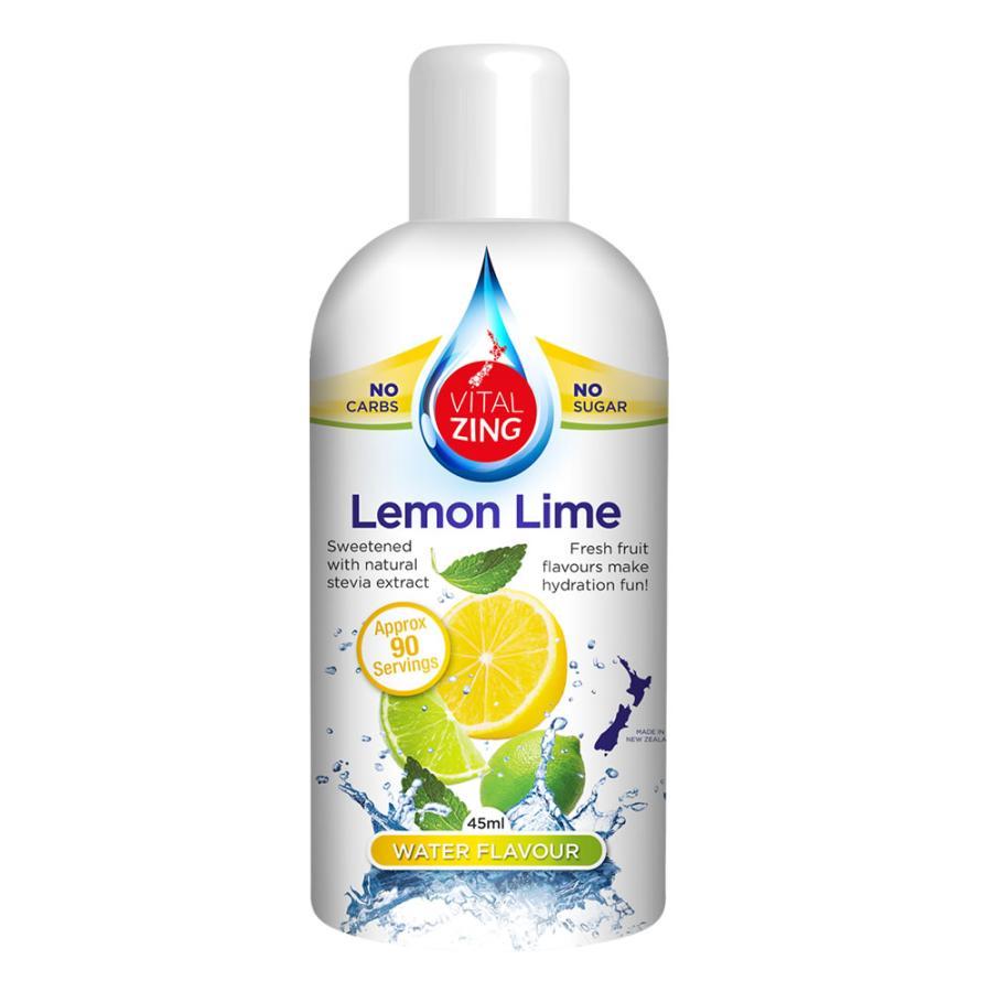 フレーバードロップス 45ml Vitalzing レモンライム ピーチ パイナップル ストロベリーキウイ|jes-mineral-honpo|02