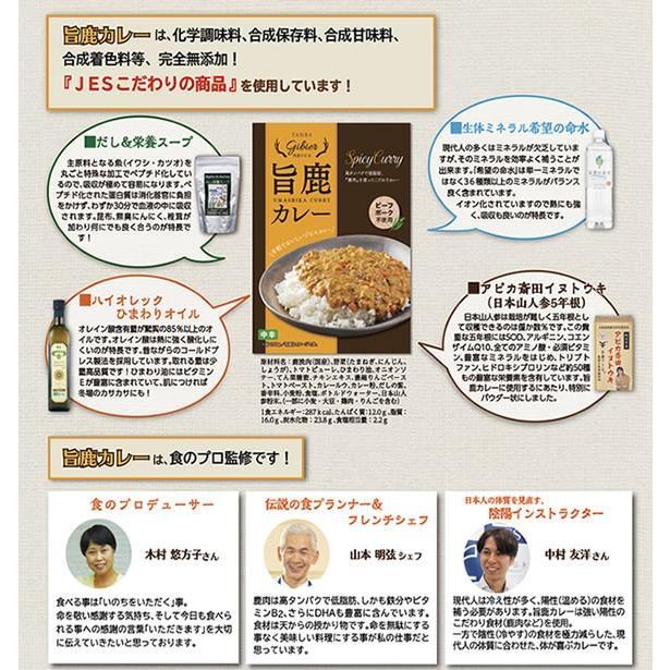 旨鹿カレー200g(1人前) 丹羽の鹿肉使用 化学調味料無添加|jes-mineral-honpo|03
