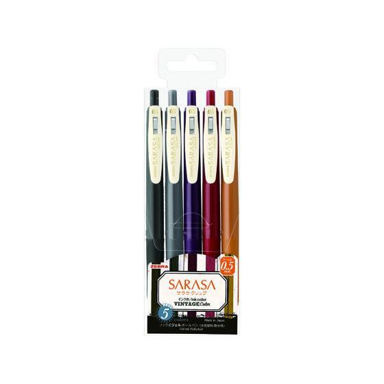ゼブラ/サラサクリップ0.5mm ビンテージカラー2 5色セット/JJ15-5C-VI2|jetprice