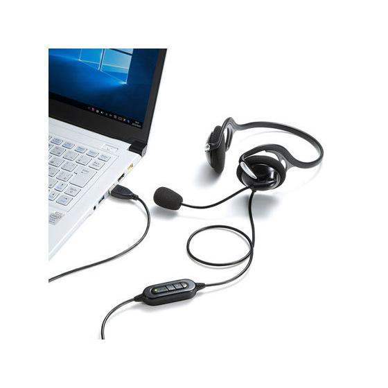 サンワサプライ/USBヘッドセット/MM-HSU05BK|jetprice|04