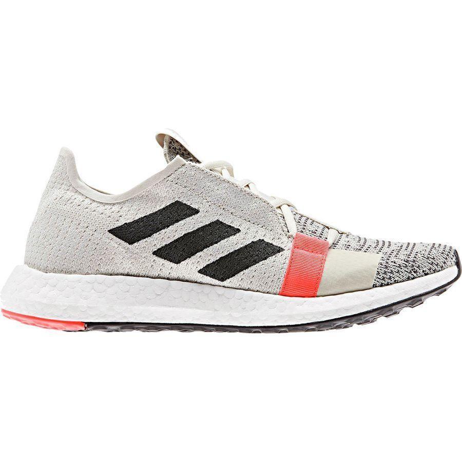激安大特価! (取寄)アディダス レディース センスブースト ゴー ランニングシューズ Adidas Women SenseBoost Go Running Shoe Raw White/Core Black/Solar Red, レザーアクセサリーJAJABOON 8cfaf859