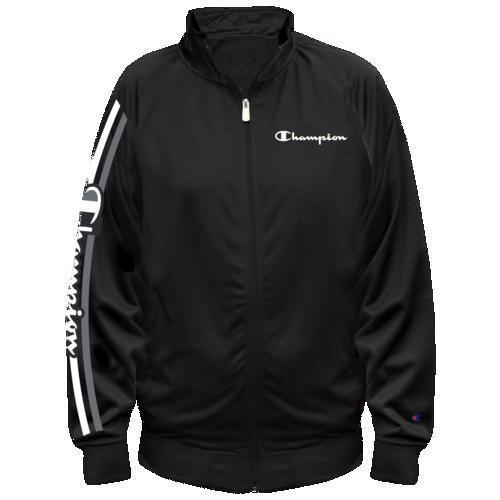 (取寄)チャンピオン メンズ スクリプト トラック ジャケット Champion Men's Script Track Jacket 黒