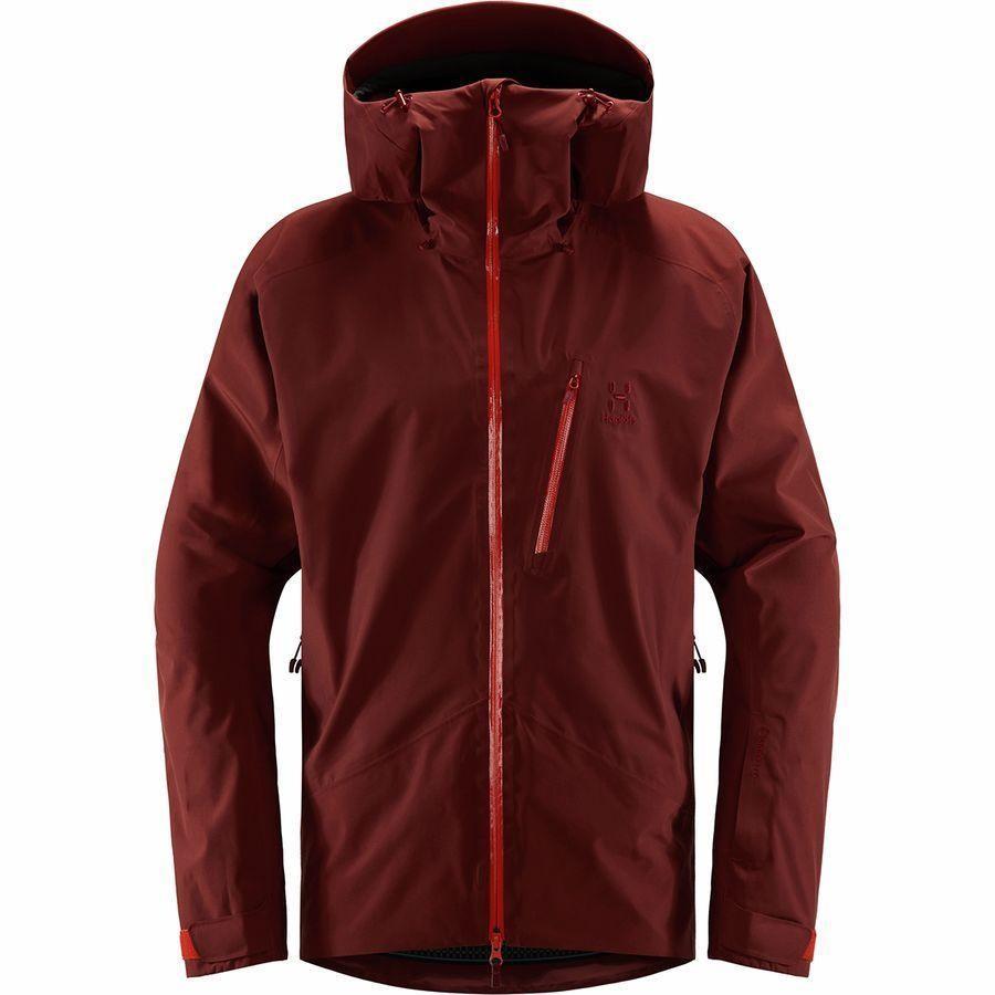 (取寄)ホグロフス メンズ ニバ ジャケット Haglofs Men's Niva Jacket Maroon Red/Habanero