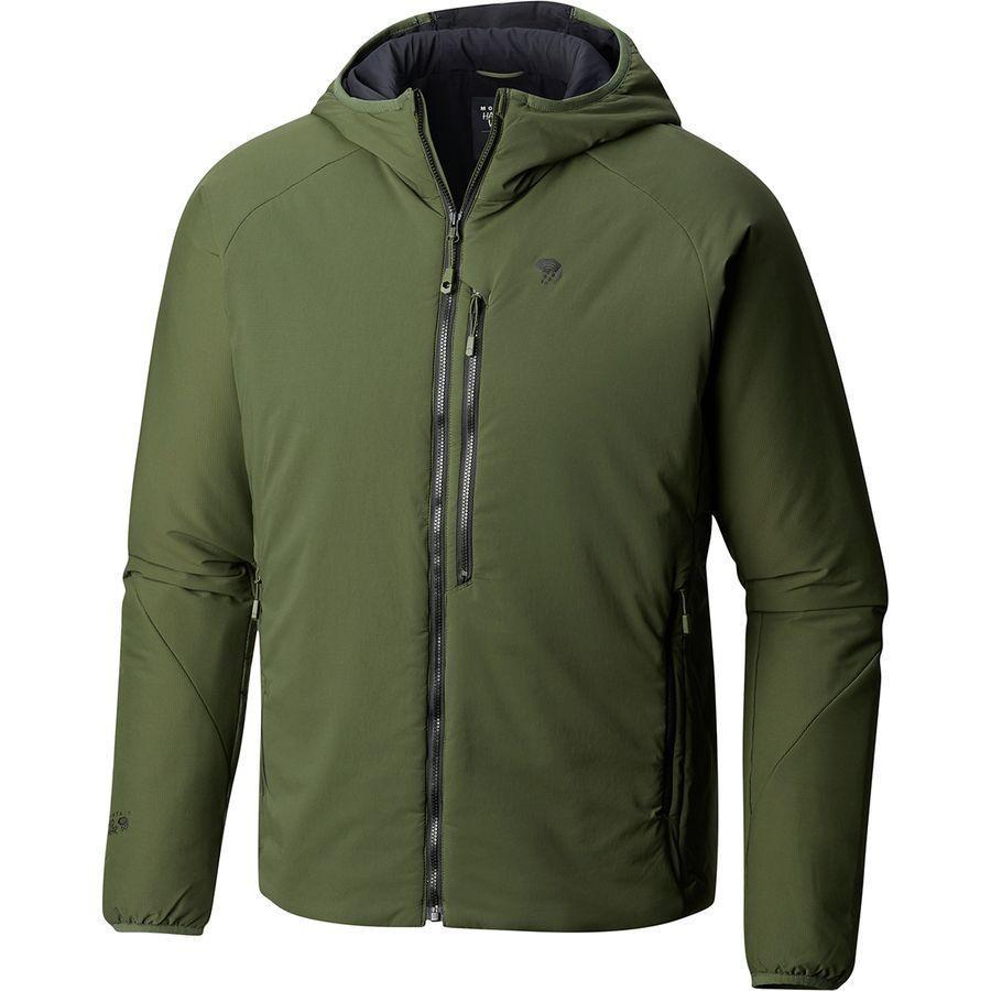 (取寄)マウンテンハードウェア メンズ コア ストラタ フーデッド ジャケット Mountain Hardwear Men's Kor Strata Hooded Jacket Surplus Green