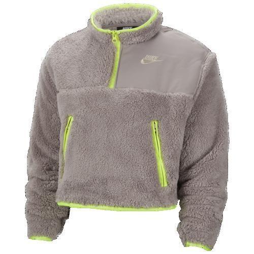 人気を誇る (取寄)ナイキ レディース クロップ シェルパ 1/4 ジップ プルオーバー Nike Women's Crop Sherpa 1/4 Zip Pullover Pumice Volt Desert Sand, プラッツティーズ 83d24794