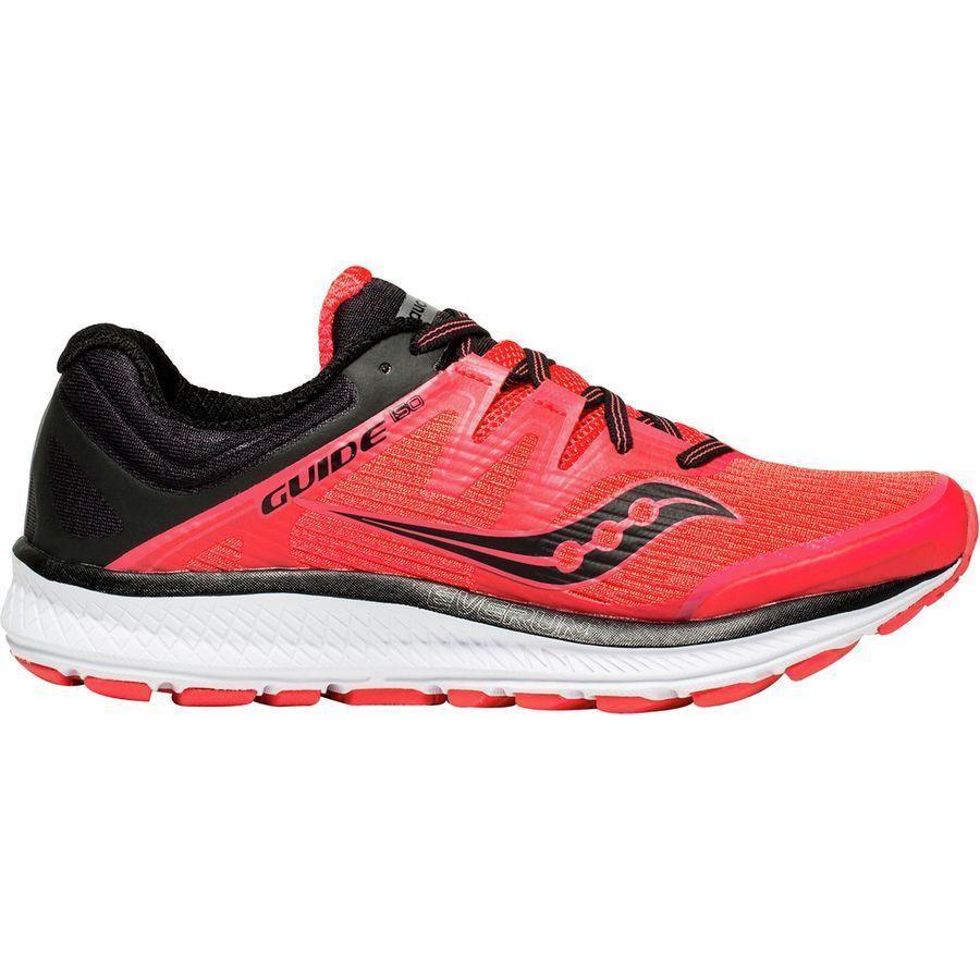 (取寄)サッカニー レディース ガイド Isoランニングシューズ Saucony Women Guide Iso Running Shoe ViZi 赤/黒