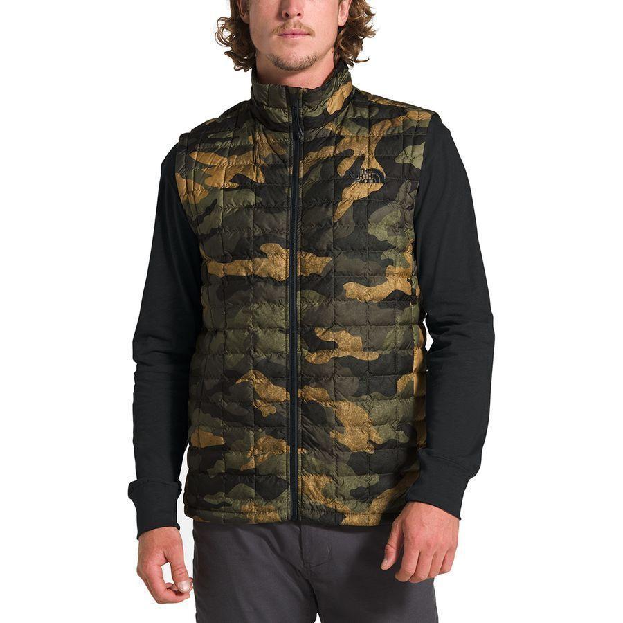 (取寄)ノースフェイス メンズ サーモボール エコ ベスト The North Face Men's Thermoball Eco Vest Burnt Olive Green Waxed Camo Print