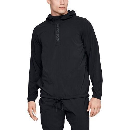 『5年保証』 (取寄)アンダーアーマー メンズ ベースライン ウーブン ジャケット Underarmour Men's Baseline Woven Jacket Black Wire, 上富良野町 a8c1357c