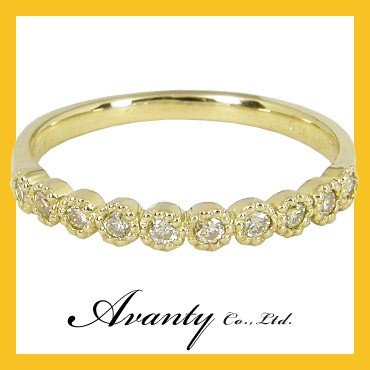 高級ブランド エタニティ ピンキーリング ダイヤモンド10石 0.1カラット 0.1ct K10YG K10イエローゴールド ピンキーリング 0号1号2号3号4号5号6号7号 結婚10年目 結婚記念, ワインセラーカワハラ 287096f1