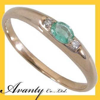 人気カラーの 5月誕生石 オーバルカット エメラルドダイヤリング K18ピンクゴールド, 会社の星 7bac10f8